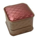 Unaza lëkurë artificiale Box, Papper lëkurë artificiale, Katror, 58x58x48mm, 10PC/Qese,  Qese