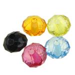 Transparente Acryl-Perlen, Acryl, Rondell, transluzent, gemischte Farben, 8x5.50mm, Bohrung:ca. 1mm, 2890PCs/Tasche, verkauft von Tasche