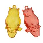 Pendants akrilik, Kafshë, i tejdukshëm, ngjyra të përziera, 22x45x13mm, : 2mm, 88PC/Qese,  Qese