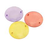 Mbulim Gjuhësh akrilik, Monedhë, i tejdukshëm, ngjyra të përziera, 30x4mm, : 1.5mm, 197PC/Qese,  Qese