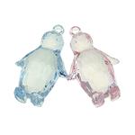 Pendants akrilik, Kafshë, i tejdukshëm, ngjyra të përziera, 30x48x17mm, : 3mm, 55PC/Qese,  Qese