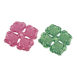 Beads transparente akrilik, Lule, i tejdukshëm, ngjyra të përziera, 55x8mm, : 1.5mm, 52PC/Qese,  Qese
