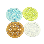 Mbulim Gjuhësh akrilik, Monedhë, i tejdukshëm, ngjyra të përziera, 50x3mm, : 2mm, 103PC/Qese,  Qese