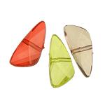 Beads transparente akrilik, Nuggets, i tejdukshëm, ngjyra të përziera, 23x10x6mm, : 2mm, 603PC/Qese,  Qese