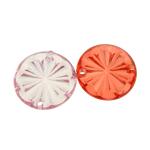 Mbulim Gjuhësh akrilik, Monedhë, i tejdukshëm, ngjyra të përziera, 25x5mm, : 2mm, 284PC/Qese,  Qese