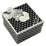 Byzylyk karton Box, Katror, e zezë, 92x92x62mm, 10PC/Qese,  Qese