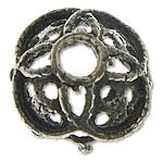 Bali Sterling Silver Bead Caps, Tajlandë, Lule, asnjë, asnjë, asnjë, 7.50x7.50x3.80mm, : 1.8mm, 20PC/Qese,  Qese