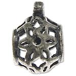 925 Sterling Silver Beads, Tajlandë, Shape Tjera, asnjë, i uritur, asnjë, 7.70x11.30x9mm, : 1, 4.6mm, 10PC/Qese,  Qese