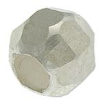925 Sterling Silver Beads, Daulle, argjend praruar vërtetë, faceted, 6mm, : 2.8mm, 20PC/Qese,  Qese