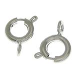 Pranvera Brass Ring kapje, Tunxh, ngjyrë platin praruar, vetme-fillesë, asnjë, , nikel çojë \x26amp; kadmium falas, 6x6x1.50mm, : 1.7mm, 1500PC/Qese,  Qese