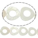 Beads Natyrore White Shell, Zemër, asnjë, e bardhë, 25x3mm, : 2mm, :15.5Inç, 17PC/Fije floku,  15.5Inç,
