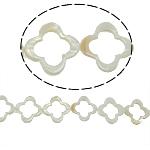 Beads Natyrore White Shell, Lule, asnjë, e bardhë, 31x4mm, : 2mm, :15.5Inç, 13PC/Fije floku,  15.5Inç,