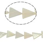 Beads Natyrore White Shell, Trekëndësh, asnjë, e bardhë, 13x15x3mm, : 2mm, :15.5Inç, 36PC/Fije floku,  15.5Inç,