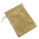 Drawstring çanta bizhuteri, Organza, ar, 70x90mm, 100PC/Qese,  Qese