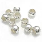 Beads dredhë, Tunxh, Rondelle, Ngjyra argjend praruar, asnjë, asnjë, , nikel çojë \x26amp; kadmium falas, 1.50x1.20mm, : 0.8mm, 60000PC/Qese,  Qese