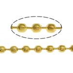 Tunxh Ball Chain, ngjyrë ari praruar, asnjë, , nikel çojë \x26amp; kadmium falas, 2.40mm, :100m,  Shumë