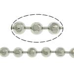 Tunxh Ball Chain, ngjyrë platin praruar, asnjë, , nikel çojë \x26amp; kadmium falas, 2mm, :100m,  Shumë