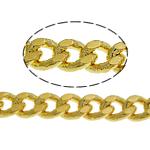 Tunxh Zinxhiri Curb, ngjyrë ari praruar, asnjë, , nikel çojë \x26amp; kadmium falas, 3.50x2.50x0.70mm, :100m,  Shumë
