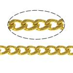 Oval Zinxhiri tunxh, ngjyrë ari praruar, asnjë, , nikel çojë \x26amp; kadmium falas, 1.80x1.30x0.70mm, :100m,  Shumë