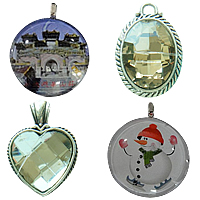 Glass Zinc Alloy Pendants