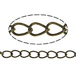 Oval Zinxhiri tunxh, Ngjyra antike bronz i praruar, asnjë, , nikel çojë \x26amp; kadmium falas, 5x3.50x0.50mm, :100m,  Shumë