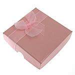 Byzylyk karton Box, Katror, rozë, 90x90x23mm, 30PC/Qese,  Qese