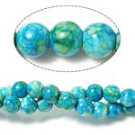 Rain Beads lule gur, Lule Rain Stone, Round, natyror, 10mm, : 0.5-1mm, : 15.5Inç, 10Fillesat/Shumë,  Shumë