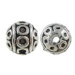 Beads bizhuteri Alloy zink, Round, Ngjyra antike argjendi praruar, asnjë, , nikel çojë \x26amp; kadmium falas, 8mm, : 0.5mm, 660PC/KG,  KG