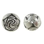 Beads Alloy zink Lule, Round, Ngjyra antike argjendi praruar, asnjë, , nikel çojë \x26amp; kadmium falas, 8mm, : 0.5mm, 476PC/KG,  KG
