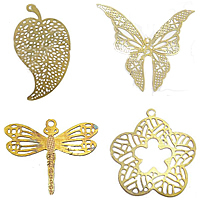Filigree Brass Stamping Pendants
