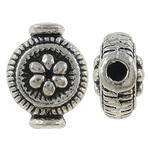 Beads bizhuteri Alloy zink, Vazo, Ngjyra antike argjendi praruar, asnjë, , nikel çojë \x26amp; kadmium falas, 10x8x4.50mm, : 1mm, 1100PC/KG,  KG