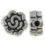 Beads Alloy zink Lule, Ngjyra antike argjendi praruar, asnjë, , nikel çojë \x26amp; kadmium falas, 7x3.50mm, : 1mm, 2000PC/KG,  KG