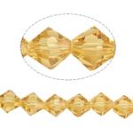 Doppelkegel Kristallperlen, Kristall, facettierte, orange, 8x8mm, Bohrung:ca. 1.5mm, Länge:12.5 ZollInch, 10SträngeStrang/Tasche, verkauft von Tasche