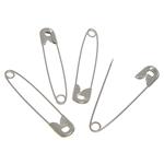 Iron fustanellë Pin, Hekur, ngjyrë platin praruar, asnjë, , nikel çojë \x26amp; kadmium falas, 45.50x9x2.70mm, 5Boxes/Shumë,  Shumë