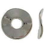 Verkupfertes Kunststoff-Perlen, Verkupferter Kunststoff, Kreisring, Platinfarbe platiniert, frei von Nickel, Blei & Kadmium, 24x2mm, Bohrung:ca. 7.5mm, 5Taschen/Menge, 200/Tasche, verkauft von Menge