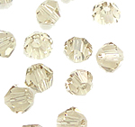 Bicone Beads Crystal, Kristal, asnjë, faceted, Silver shampanjë, 3x4mm, : 0.5mm, 720PC/Qese,  Qese