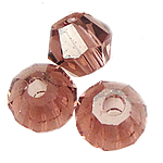 Doppelkegel Kristallperlen, Kristall, facettierte, Vintage Rose, 3x4mm, Bohrung:ca. 0.5mm, 720PCs/Tasche, verkauft von Tasche