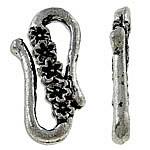 Kapje aliazh zink S, Alloy zink, Shape Tjera, Ngjyra antike argjendi praruar, asnjë, asnjë, , nikel çojë \x26amp; kadmium falas, 24x14x3mm, 270PC/KG,  KG