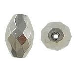 Veshura bakri Beads plastike, plastike bakrit të veshura, Oval, ngjyrë platin praruar, asnjë, asnjë, , nikel çojë \x26amp; kadmium falas, 20x14mm, : 2mm, 200PC/Qese,  Qese