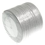 Ribbon Sparkle, argjend, 6mm, :250Oborr, 10PC/Shumë,  Shumë