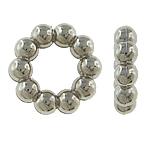Veshura bakri Beads plastike, plastike bakrit të veshura, Lule, ngjyrë platin praruar, asnjë, asnjë, , nikel çojë \x26amp; kadmium falas, 14x4mm, : 8mm, 500PC/Qese,  Qese