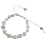Shamballa Bracelets gur i çmuar, Bruz Natyrore, with Cord Wax, Kafkë, 10mm, :7Inç,  7Inç,