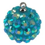 Varëse Rrëshirë, Round, blu, 16mm, : 1mm, 50PC/Qese,  Qese