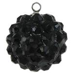 Varëse Rrëshirë, Round, e zezë, 16mm, : 1mm, 50PC/Qese,  Qese