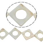 Beads Natyrore White Shell, Romb, asnjë, e bardhë, 34x3mm, : 2mm, :15.5Inç,  15.5Inç,