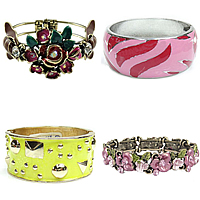 Enamel Zinc Alloy Bangle