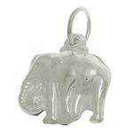 925 Sterling Silver varëse, Elefant, argjend praruar vërtetë, asnjë, 12x14x4.80mm, : 4.5mm, 3PC/Qese,  Qese