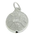 925 Sterling Silver varëse, argjend praruar vërtetë, asnjë, 9.20x5.20mm, : 3.5mm, 5PC/Qese,  Qese