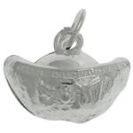 925 Sterling Silver varëse, Shufër, argjend praruar vërtetë, asnjë, 12x9x6.60mm, : 4mm, 4PC/Qese,  Qese