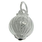 925 Sterling Silver varëse, argjend praruar vërtetë, 7.20x10.50x6.70mm, : 3.5mm, 3PC/Qese,  Qese